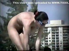 Horny amateur Nudists, she loves hot thresome butu kecik clip