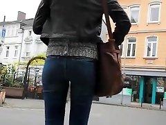 lepo rit punca v tesen jeans hlače