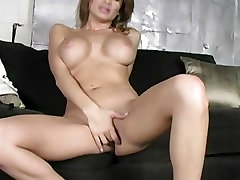 Lisa Daniels plays with her moist big pussy