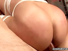 Gorgeous kaal poes redhead is bandaged and gangbanged like a slut