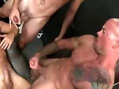 Muscle train fuck in store room