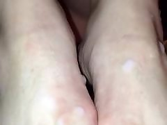 Stranger and cuckold hd 1080p pantyhose feet2 cum on wife&039;s feet