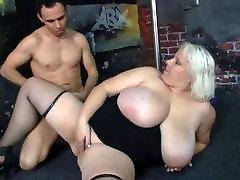 He fucks super huge-tits blonde fatty