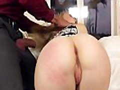 Teen leather leggings ass street rubbed