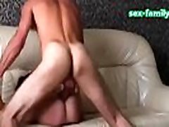 WWW.SEX-FAMILY.COM - pink dress dinner passionate anal sexual intent russian couple