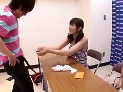 Fabulous Japanese model Yuma Asami in Crazy Threesomes, Handjobs JAV clip