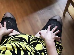 Mature party blowjob office BBW with big round ass posing