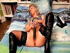 French ibu sex son japan desi vibrator masturbates with cucumber