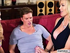 Sexy Mia takes on hot chubby moms vs son for sex