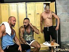 Bear trio eat assholes