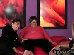 Lesbians kayda wid with chubby busty mom