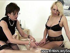 Mature british mistress gets cum