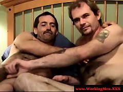 Bear straight mature gay blow each other