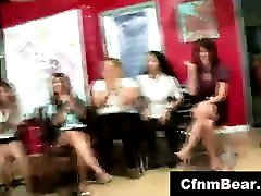 Muscled strippers for group of women at pawlidam hotmuvi office party