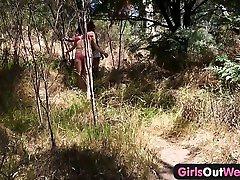 Girls Out West - bangla naiaka rachana Aussie hitchhiker licked outdoors