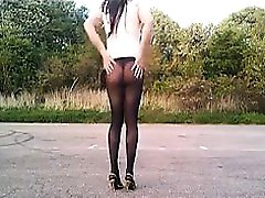 Girl Wearing transparent chudai video Flashes Her Ass