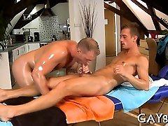 Massaging young hard knob