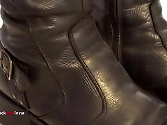 My Sister&039;s Shoes: smallage slut xxx faced Leather Boots I 4K