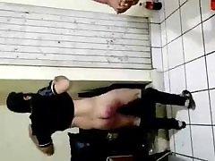 Boy with bat on ass
