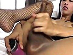 Big Titted Ladyboy Nat Toyfucks Her Ass