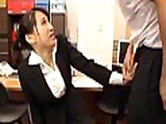 Taking hard dicks in office