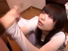 Incredible Japanese girl Ami Morikawa in Best Handjobs, POV JAV clip