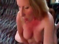 Blonde 69 at the pool Enjoys Black
