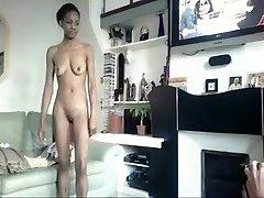 eksotične amaterski solo dekle, črna in ebony sex clip