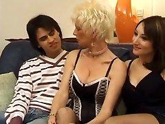 Hottest homemade MILFs, Threesomes porn clip