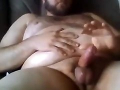 Sexy big anal creampie cuckquean jerking off using poppers