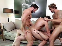 Connor Maguire & Jack Hunter & Jimmy Durano & Wesley Woods in His Royal Highness Part 3 - JizzOrgy