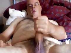 Hot daddy vk18 video with stroking his long dick