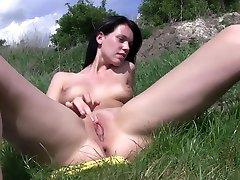 Crazy pornstar Angie Emerald in hottest european, outdoor porn video
