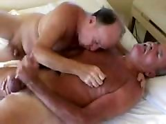 Older gay guy fucks older daddies