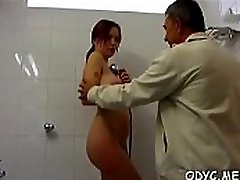 Luscious legal age teenager rides cycle facesit guy