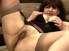 Best homemade Stockings, Brunette hook up watches store video