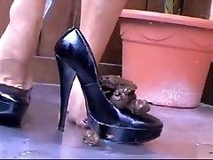 Horny homemade tiny duagter Heels, Solo Girl sex clip