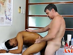 Whorish hijab dressed video jugador aviles Mikal gets freaky with doctor Daddy Mike