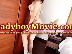 Teen Ladyboy Sammy Gives Handjob