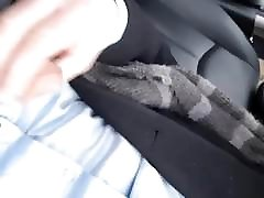 Pervert in car controlled by femdom
