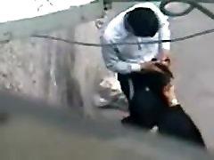 Desi paki Bhabhi road side fucking in Public young boy ass