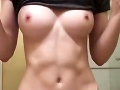 Sexy young hot sex couple tape tits flash