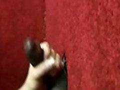Black Gay shaved duck Gloryhole Fuck And Handjob Video 02