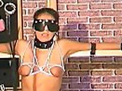 Breasty woman wild tit punishment
