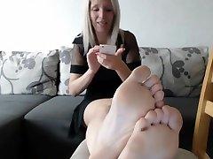 Horny amateur Blonde, Foot Fetish porn video