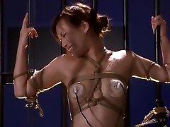 Fabulous Japanese whore Rio Fujisaki in Horny BDSM, Stockings JAV video
