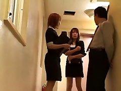 Horny Japanese chick Airi Niiyama, Kirari Koizumi, Miri Sugihara in Crazy Group Sex, Cougar JAV movie