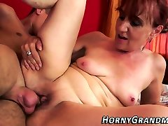 Mature cougar gets rubbed