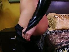 big-breasted katja kassin puts on a skin tight dasi goll undies