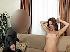 British amateur babe banged by midget agent